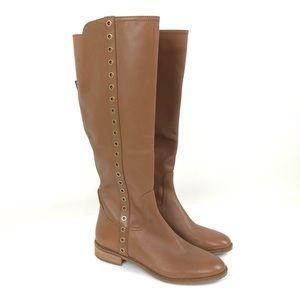 NWOT-Michael Kors Brown Rivet Riding Boots Size 8